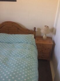 Pair lovely solid pine bedside cabinets