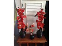 Set of 3 flower vases!