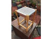 String foot stool