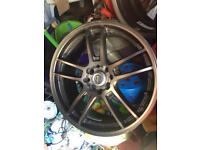 17 inch alloy wheels will fit Vauxhall or ford 4 stud £120