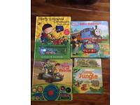 Selection of kids hardback interactive books