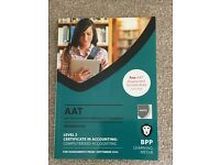 AAT LEVEL 2 TEXTBOOKS, includes 5 text books vital for AAT Qualifications, BPP learning media