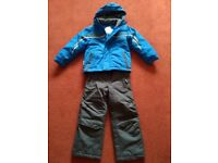 Parallel Kids Ski Jacket and Ski Trousers / Salopettes. Age 5-6. Blue/Beige