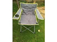 Camping chairs in grey and blue