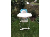 High Chair - Suitable from new born to toddler - fully adjustable