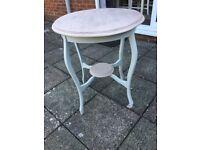 Circular painted coffee table