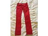 Red trousers