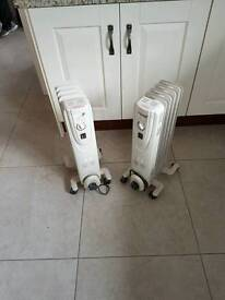 2 electric space heaters
