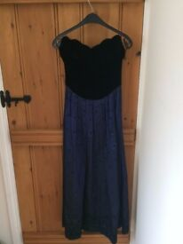 Vintage Laura Ashley Strapless Ballgown- UK10
