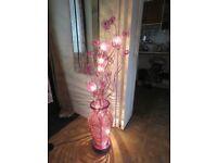 Purple,Pink & Silver Stripe Candy Cane Halogen Floor Lamp