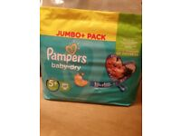 Pampers nappies 5+ 68 pieces