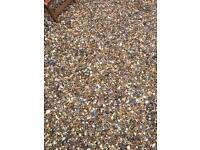 Gravel. Ideal for drive way or garden. FREE to bag and collect. 1 tonne plus of nice garden gravel.