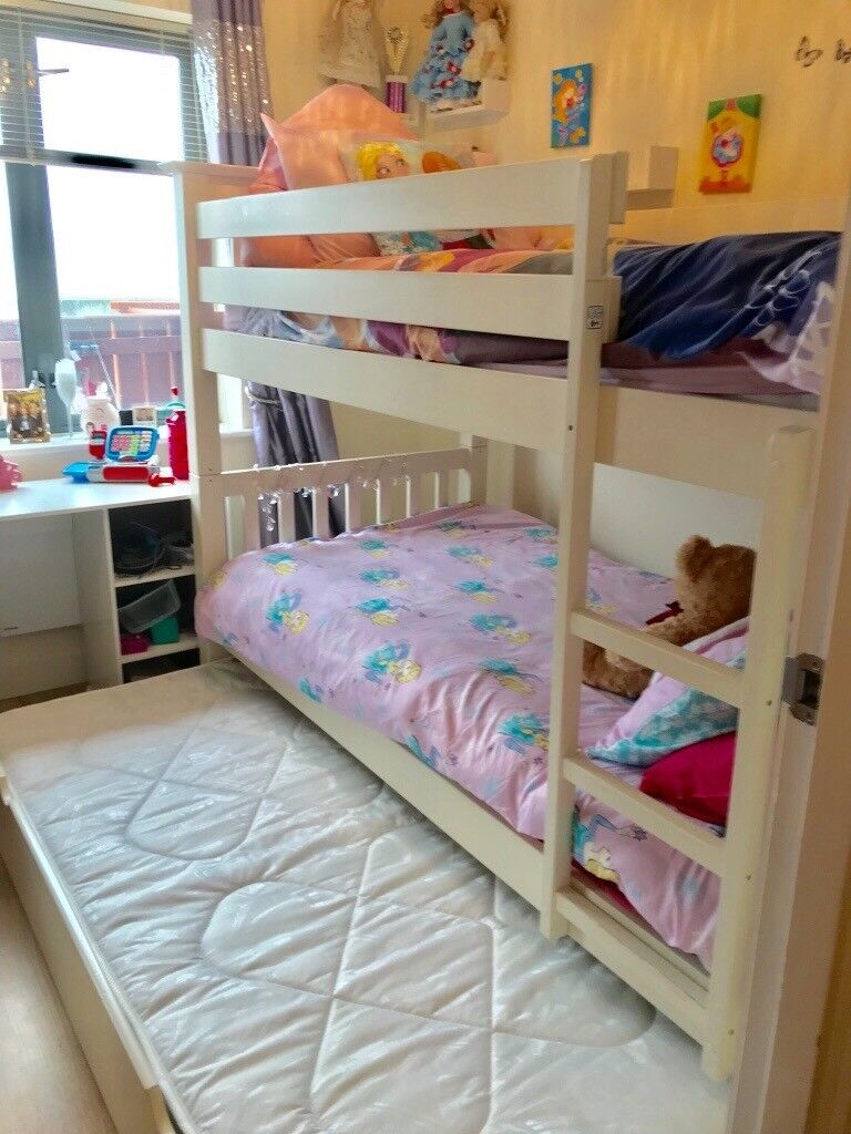 Beautiful White 3 Bed Bunk Beds For Sale At A Bargain Price Only A