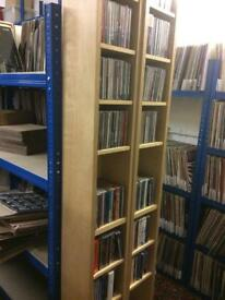 "CD, DVD, 7"" single racks (x 6)"