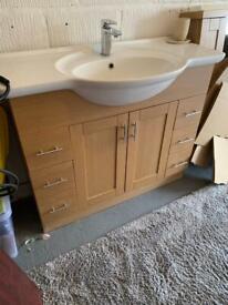 Bathroom Sink and mirror unit