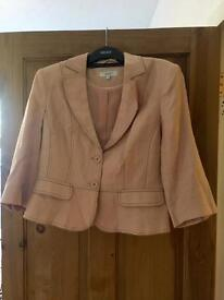 Next Linen Pale Pink Tailored Jacket, Size 14