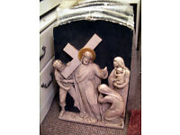 Stations of the cross Vintage / Antique Plaster Plaques