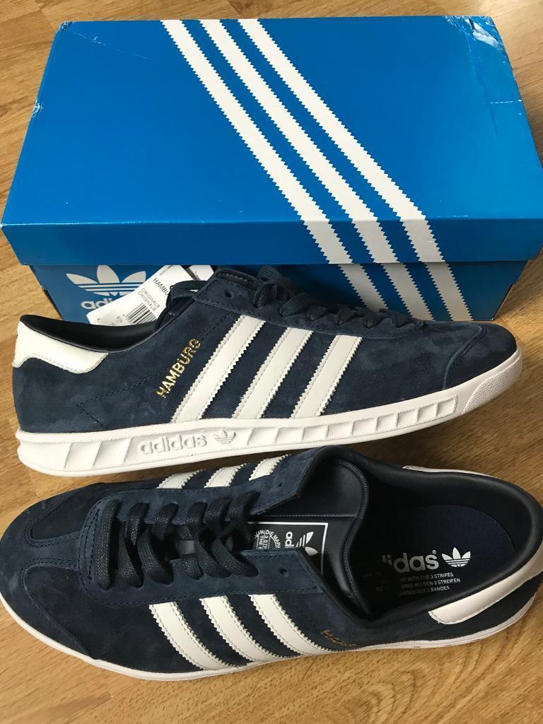 Adidas Hamburg Trainers - Navy - Size 9.5. Brand New