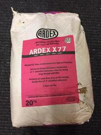 ARDEX X77 GREY 2X20 Kg Bags Microtec flexible wall and floor tile adhesive 2X new bags PRICE DROP
