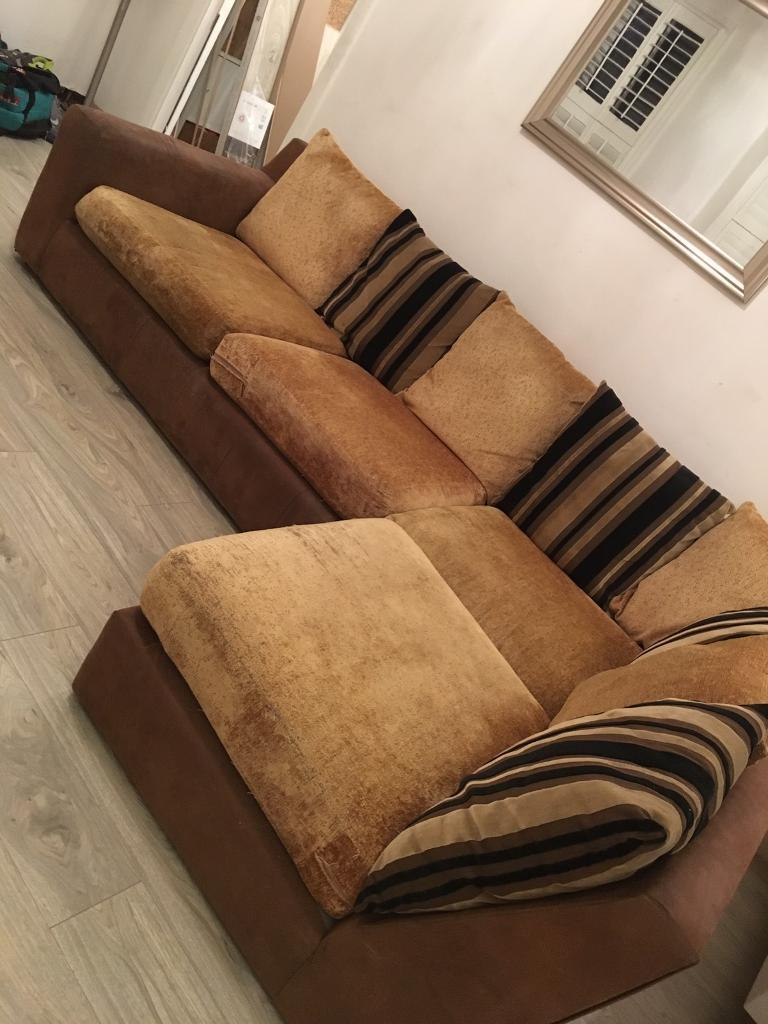 Second Hand Corner Sofa With Foot Stool 200