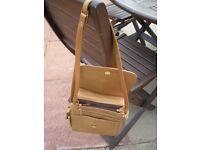 Unused Tan Leather Hand Bag