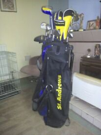 st andrews golf clubs & bag in good condition