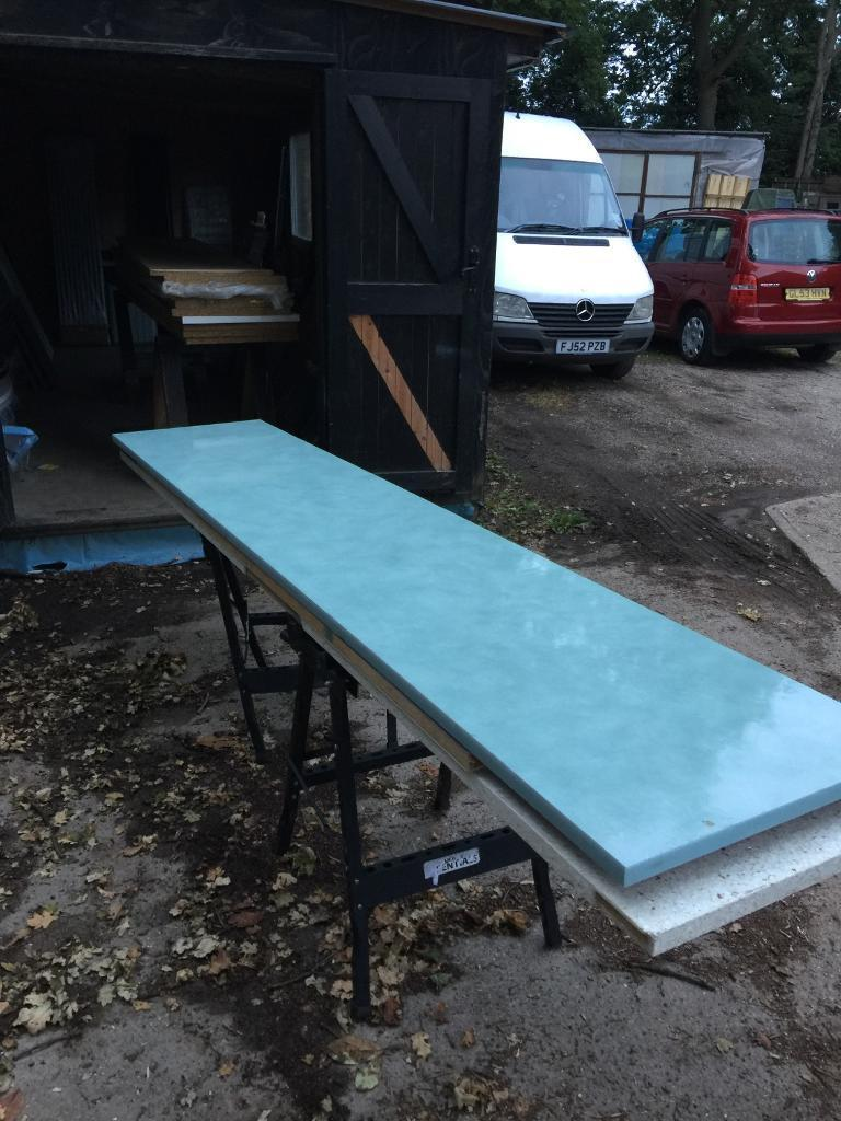 B&q cracked glass effect worktop 600/3000/30 | in Bishops Stortford ...