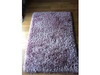 BHS pink/ mauve sparkle rug