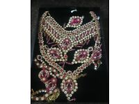Pink bridal Jewellry set