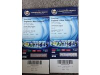 ENGLAND V NEW ZEALAND TUESDAY 6th JUNE ICC CRICKET TICKETS X 2 AT CARDIFF. £30 TOTAL