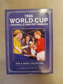 1966 World Cup & Football's Greatest Moments DVD and Book Set **new unwanted gift**