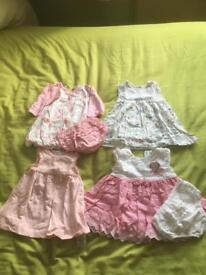 0 to 3 month girls dresses