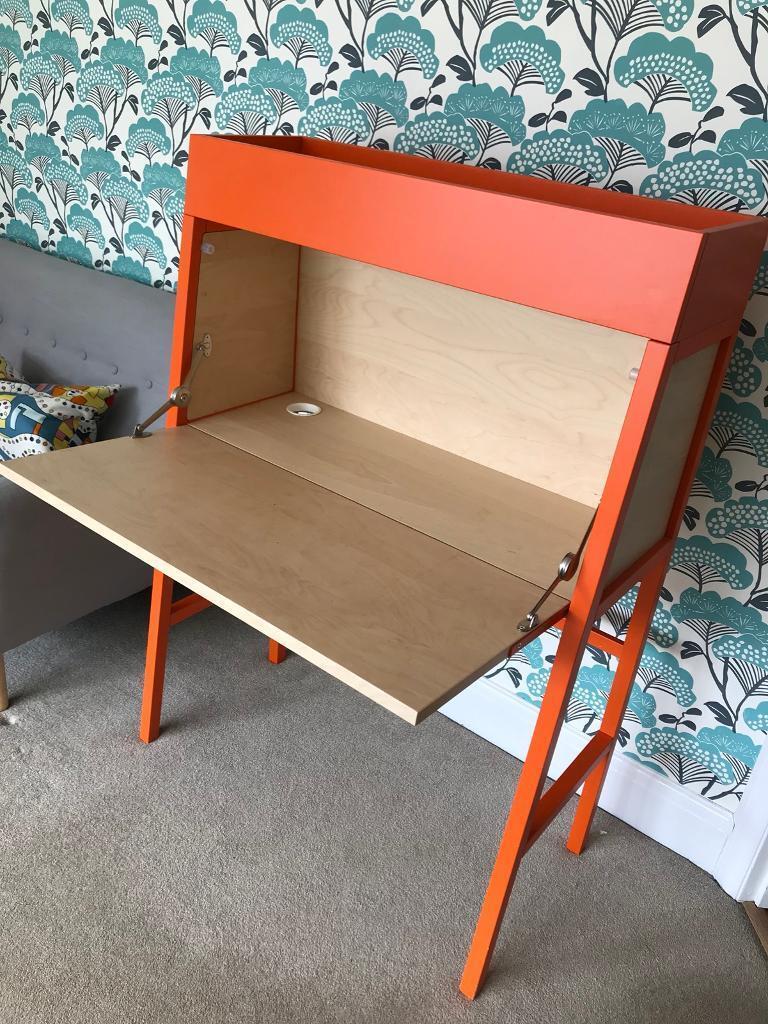 Ikea Ps 2014 Bureau Orange In Backwell Bristol Gumtree