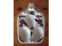 Vintage retro (1960's-70's?) Toni Raymond Pottery, England hand painted spoon rest . £5 ovno.