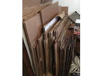 Cardboard Boxes & Bubble Wrap
