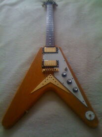 1999 Epiphone 1958 Korina Flying V Electric Guitar for sale in Bournemouth, Dorset