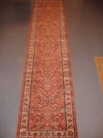 Kashmir wool pile patterned carpet runner