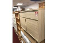 2 drawer 2 door chest - light oak