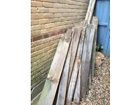 Feather board fence 5 1/2 ft