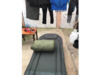 JRC specialist bedchair and trakker snooze sleeping bag
