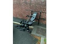 Dumbbell,Barbell,weight and bench
