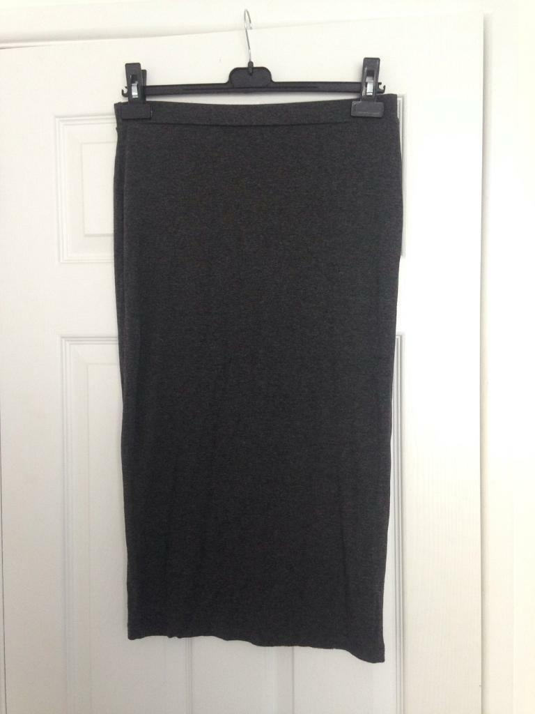 Size 12 fitted grey tube skirt