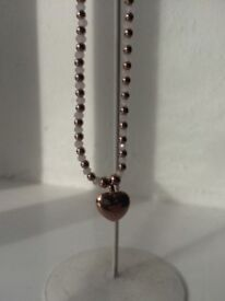 Joma jewellery rose gold necklace