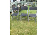 Three outside folding garden chairs vgc (can deliver)