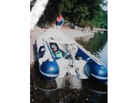 Honda Wave 4 person in shore Inflatable Boat