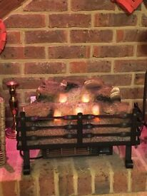 Fireplace electric basket heater