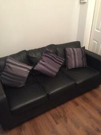 3 and 2 seater settees faux leather