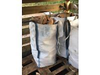 Logs firewood peat