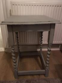 Shabby chic grey hall/console table