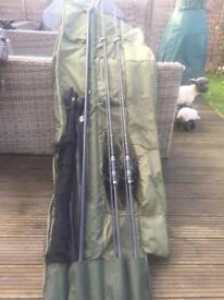 Carp rods & reels x2